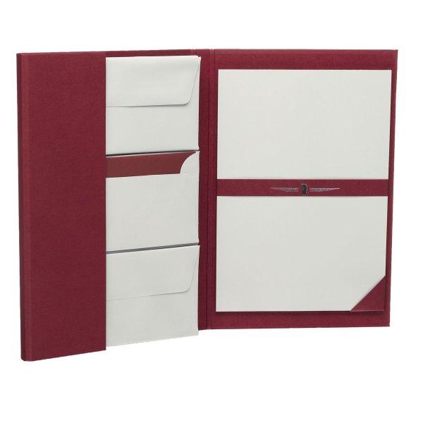 Paper Royal - Briefpapiermappe 25/25,DIN A4/DL, eisgrau ger.