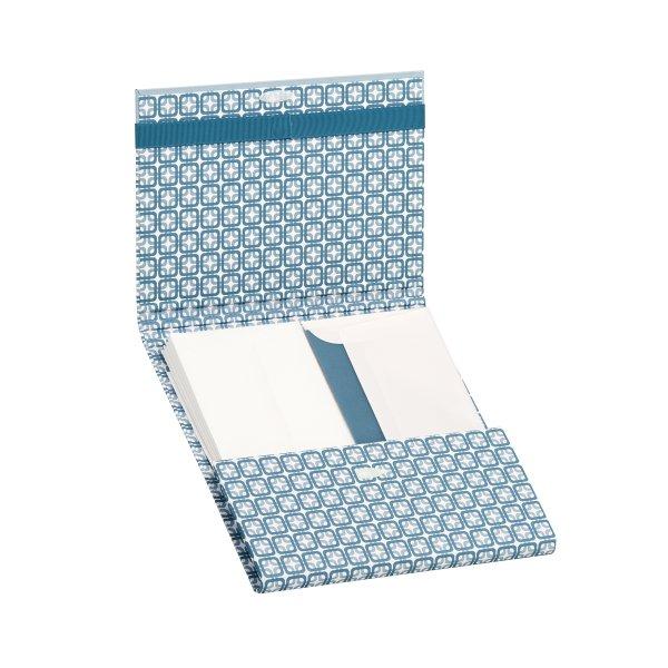 Frame-Smoky Blue- Briefpapiermappe 10/10, Ft.7a/Ft.7