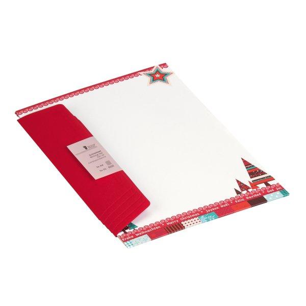 W-Design-Pack 5/5 A4/DL  Sterne und Bäume/BU rot(36)