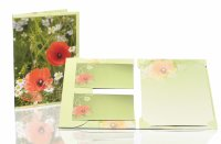 Sommerwiese - Briefpap.pack 10/10 - 165x235/90x177