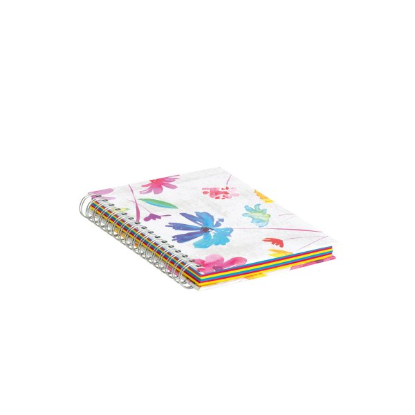 Aquarell - Wire-O Notizbuch A5, 160 Seiten-bunt