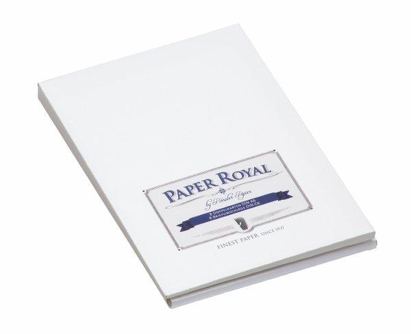 Paper Royal-Kartenmappe 8/8 DIN A6 hd/C6, weiß gerippt