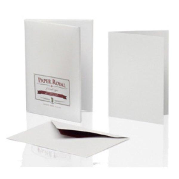 Paper Royal-Kartenmappe 8/8 DIN A6 hd/C6, grau gerippt