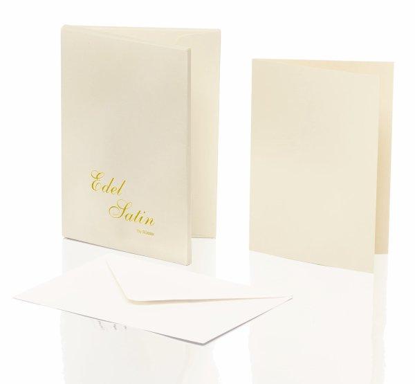 Edel Satin- Kartenmappe 8/8, DIN A6 hd/C6, ivory glatt