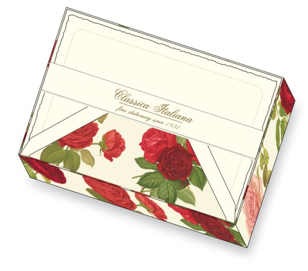 Kartenpackung 10/10 Rosen 11,5 x 17 cm