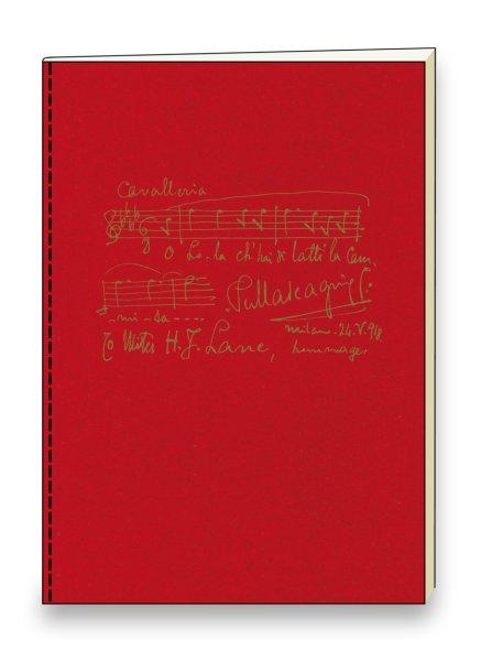 """Heft """"Pietro Mascagni"""" 15 x 21 cm (A5) mit Goldprägung"""