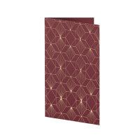 Art Deco, Bordeaux Kartenset B6hd/B6 m. HF
