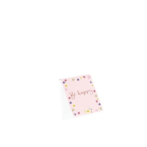 Flower Ride - Notizblöckchen 60/110x95 HF, Be Happy