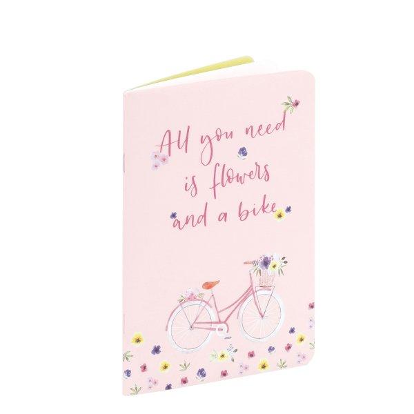 Flower Ride - All you need..Notizheft 48/A5, punktliniert