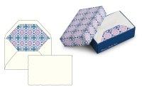 Kartenpackung 10/10 Letterpress blau/lila 8,5x13 cm
