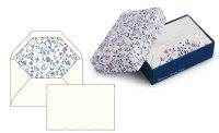 Kartenpackung 10/10 Blumen blau/lila 8,5x13 cm