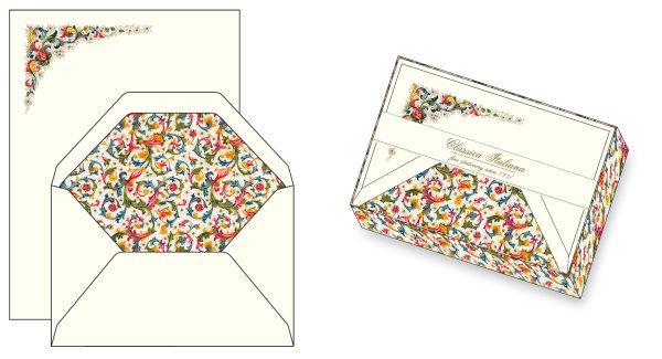 Briefpapier 10/10 Florentiner Muster 17x23 cm