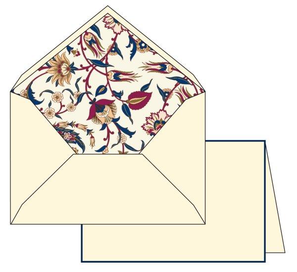 Kartenpackung 10/10 Blumen lila/gold 10,5x16 cm