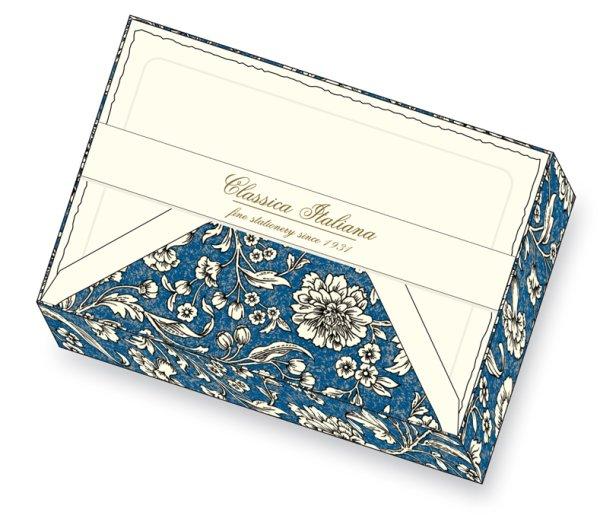 Kartenpackung 10/10 blaue Blumen 11,5 x 17 cm