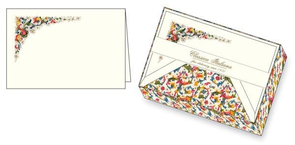 Kartenpackung 10/10 Florentiner Muster 11,5 x 17 cm