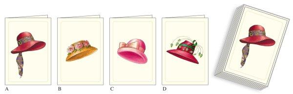 """Kartenpackung 12/12 """"Hüte"""""""