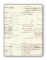 Faltmappe / Sammelmappe Schrift braun