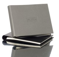 Kondolenzbuch mit verdecketer Spirale, grau