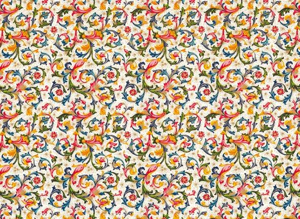 Italienisches Papier 50 x 70 cm CRT 001 Florentiner Muster